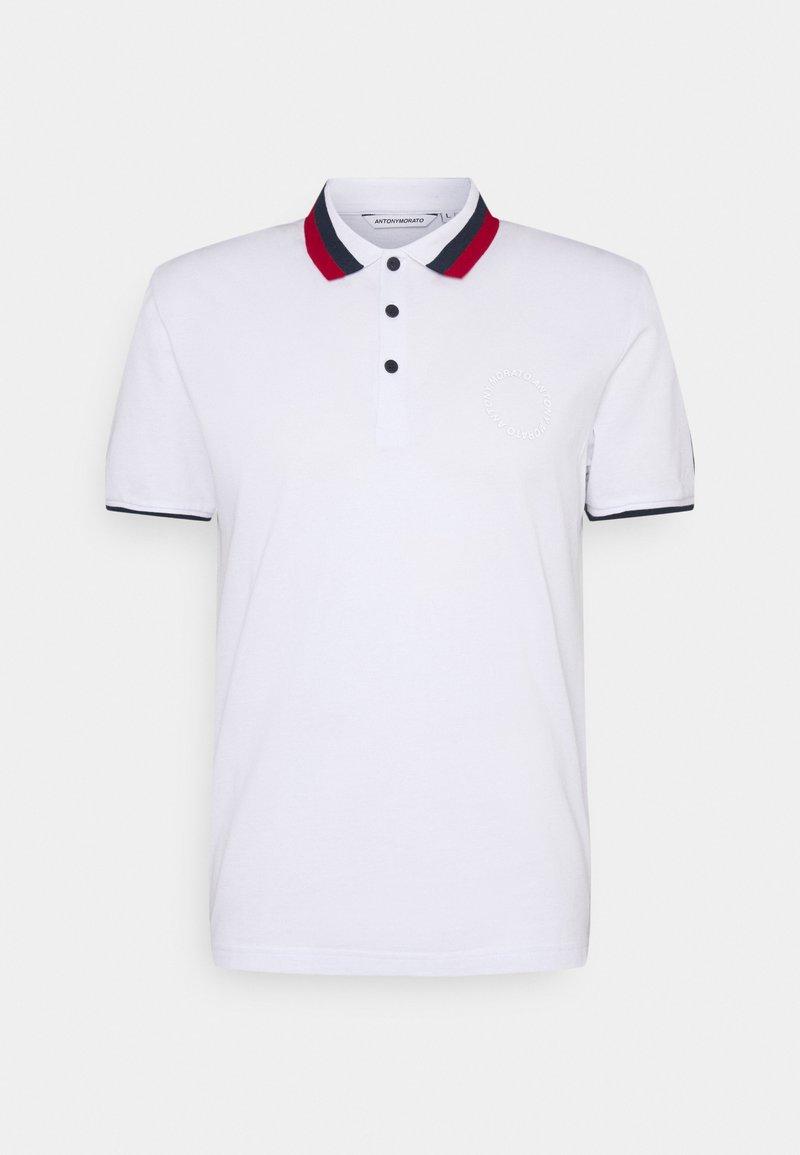 Antony Morato - SLIM FITINMERCERIZED WITH REFLECTIVE  - Polo shirt - bianco