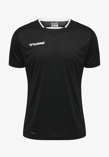 HMLAUTHENTIC - T-shirt imprimé - black/white