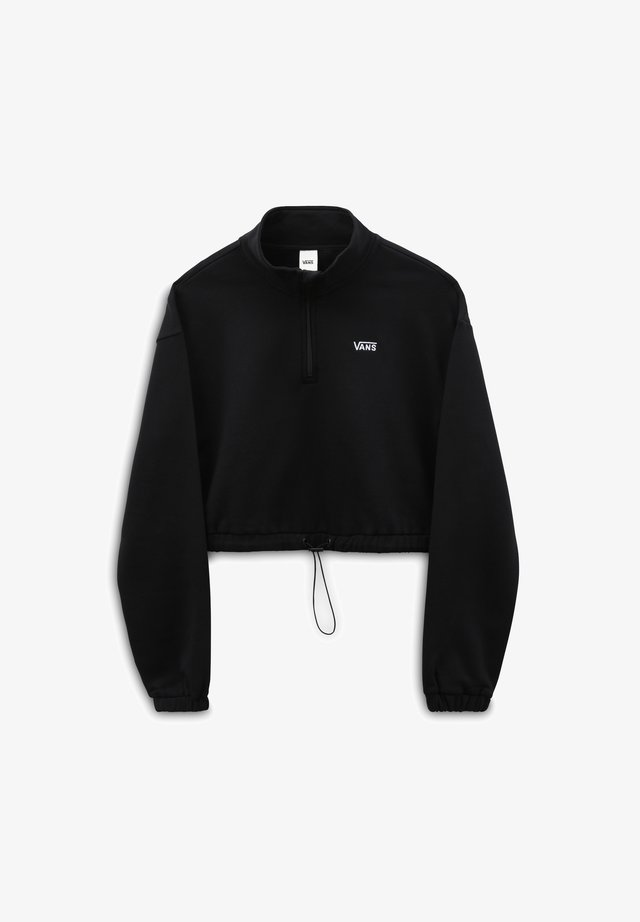 WM LEFT CHEST HALF ZIP FLEECE - Sweatshirt - black