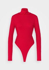 NA-KD - OPEN BACK HIGHNECK BODYSUIT - Long sleeved top - red - 4