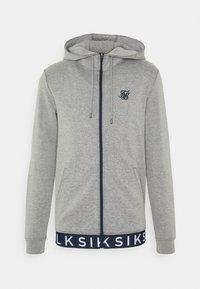 SIKSILK - ELASTIC JACQUARD ZIP THROUGH HOODIE - Felpa con zip - grey - 3