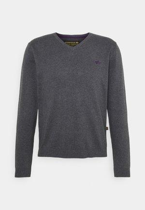 CLASSIC V NECK  - Trui - grey/lilac