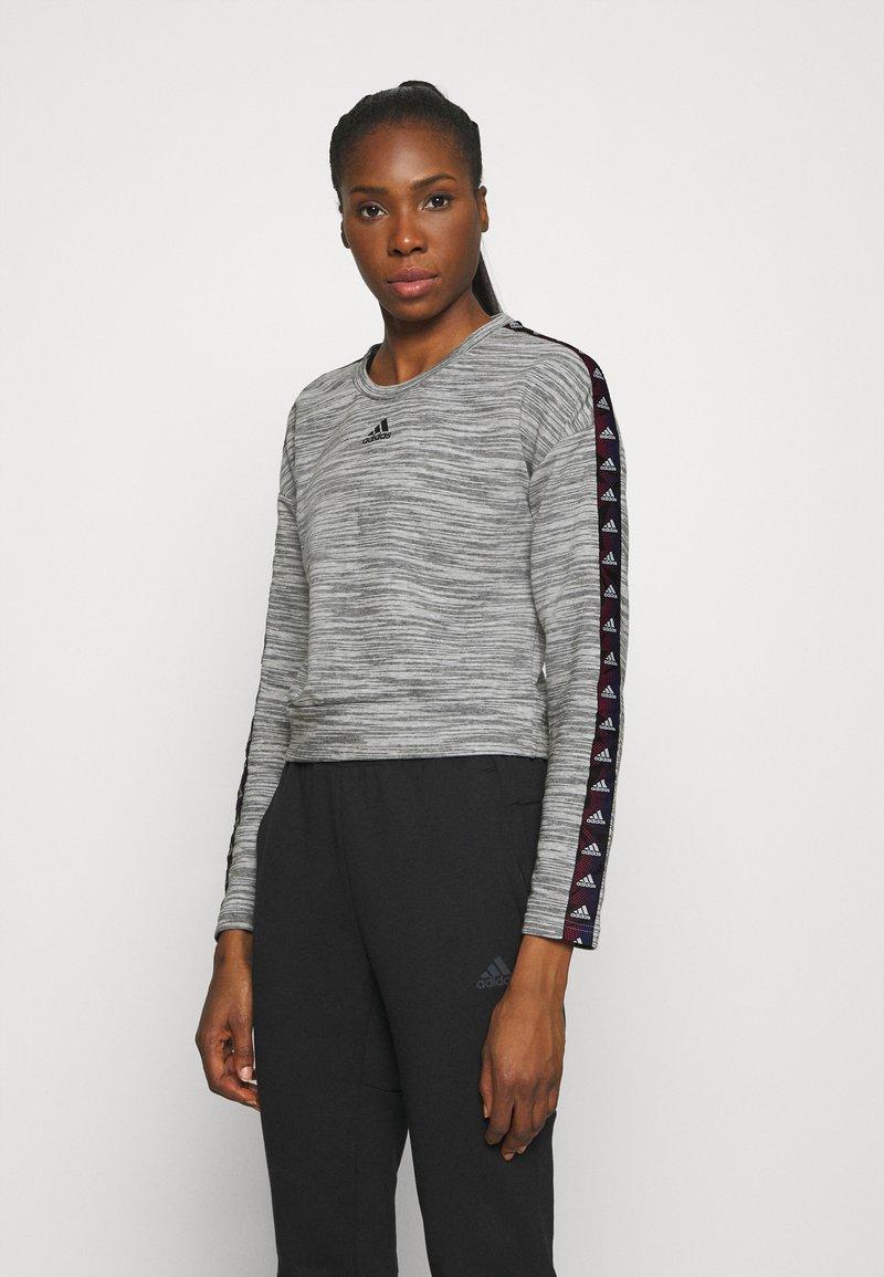 adidas Performance - Sweatshirt - medium grey heather/black