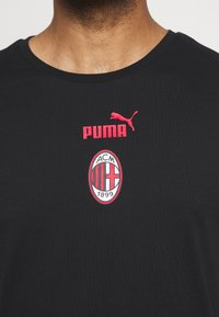 Puma - AC MAILAND CULTURE TEE - Club wear - puma black/tango red - 5