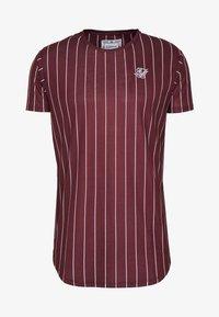 SIKSILK - PINSTRIPE TEE - T-shirt print - burgundy - 3