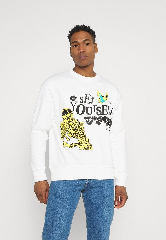 SET YOURSELF FREE UNISEX - Collegepaita - off white