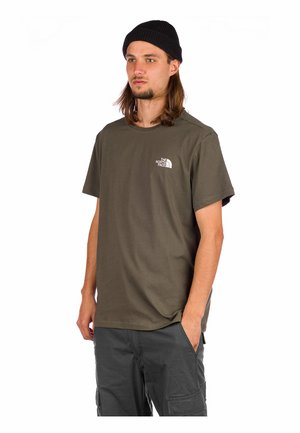 Print T-shirt - new taupe green