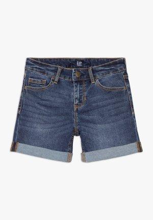 GIRL MIDI - Denim shorts - dark blue denim