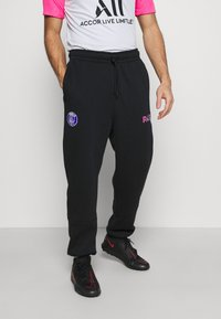 Nike Performance - PARIS ST GERMAIN PANT - Tracksuit bottoms - black/psychic purple - 3