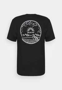 Selected Homme - SLHRELAXEDMILO ONECK TEE - Print T-shirt - black - 6