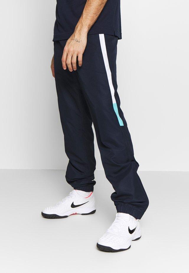 TENNIS PANT - Pantalon de survêtement - navy blue/white/haiti blue