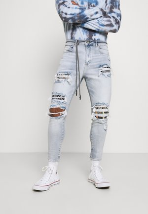 BANDANA AND SKELTON - Jeans slim fit - washed blue