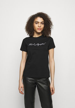 SIGNATURE - T-shirt z nadrukiem - black
