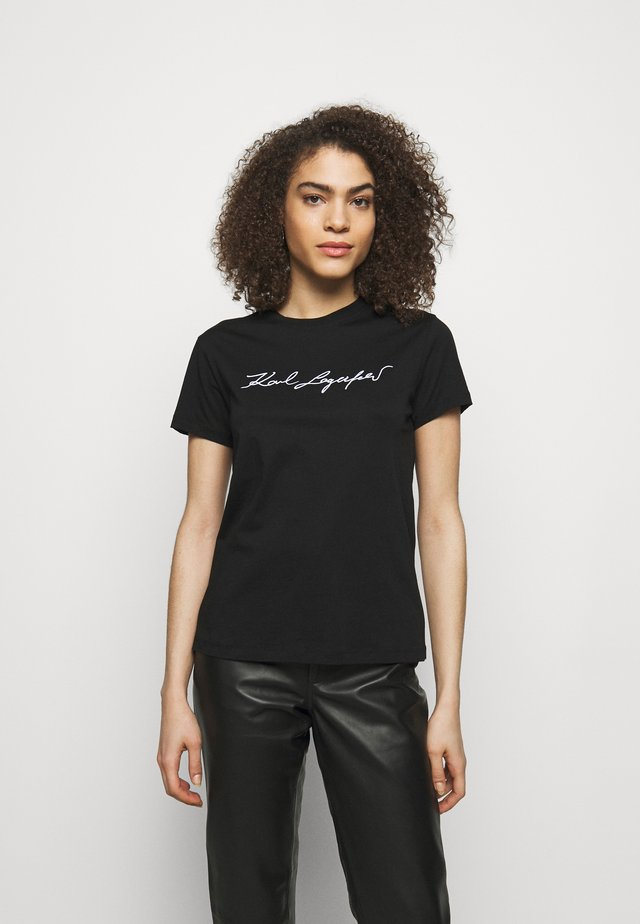 SIGNATURE - T-shirt imprimé - black