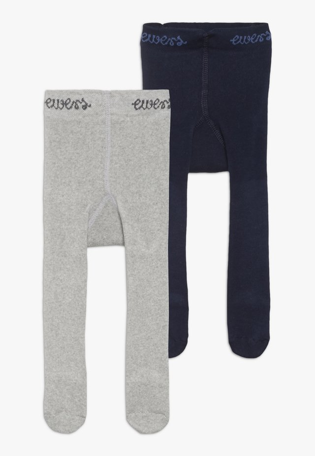 THERMO 2 PACK - Rajstopy - light grey/navy