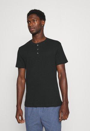 LOUNGE HENLEY TEE - Pyjamashirt - black