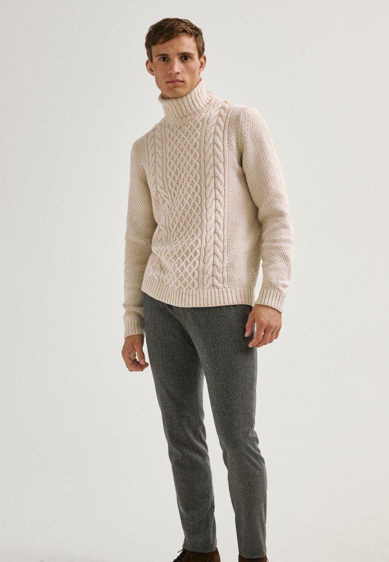 Massimo Dutti - LIMITED EDITI - Trousers - light grey