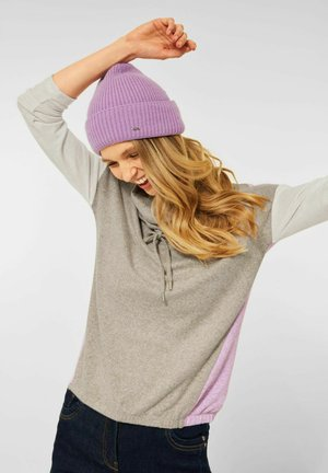 IN COLOURBLOCK - Long sleeved top - beige/pink/white