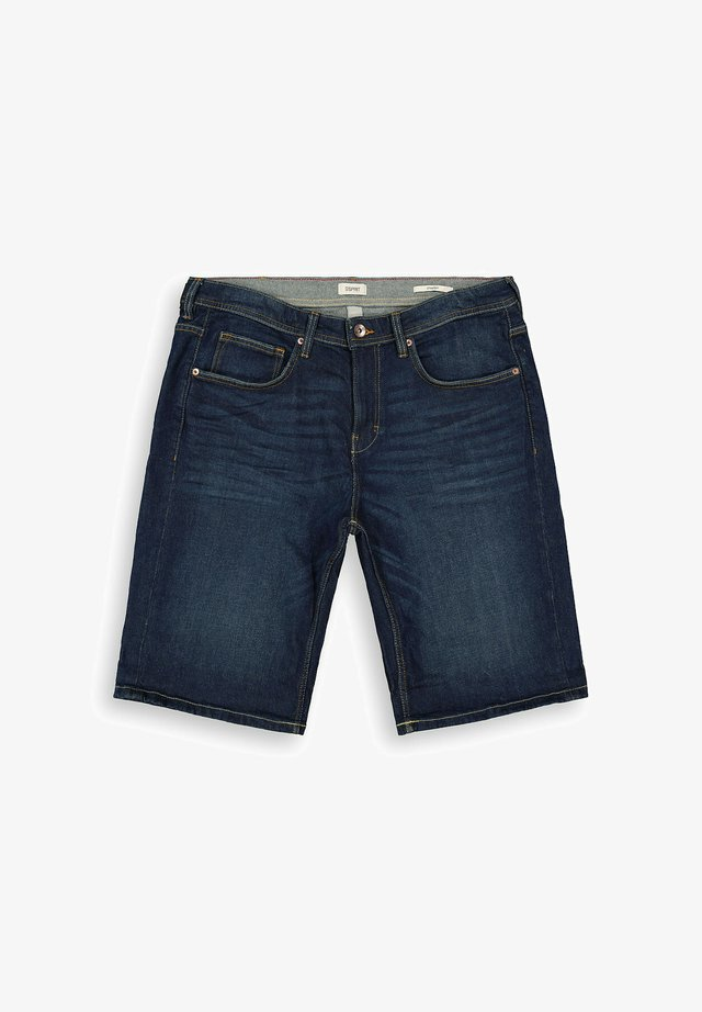 Denim shorts - blue dark washed