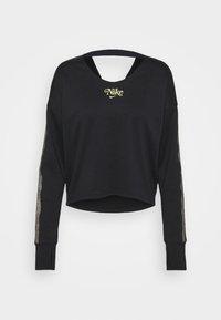 MIDLAYER FEMME - T-shirt à manches longues - black/metallic gold