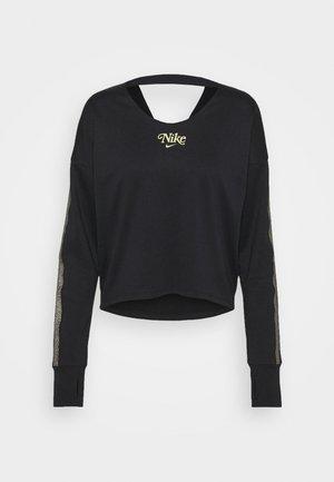 MIDLAYER FEMME - Top sdlouhým rukávem - black/metallic gold