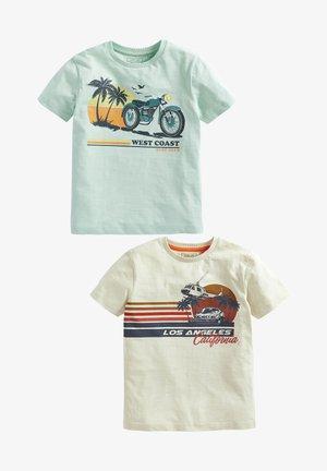 2 PACK - Print T-shirt - light blue