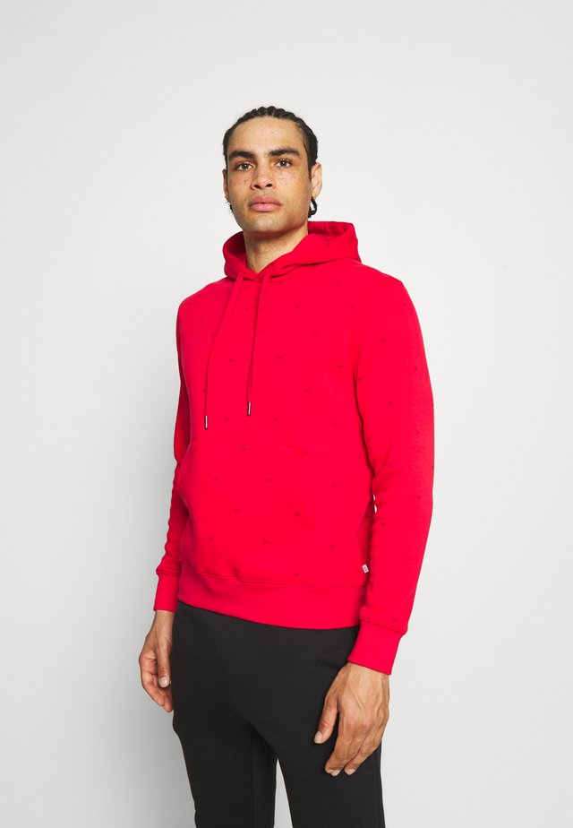 ALL OVER PRINT HOODIE - Sweatshirt - red