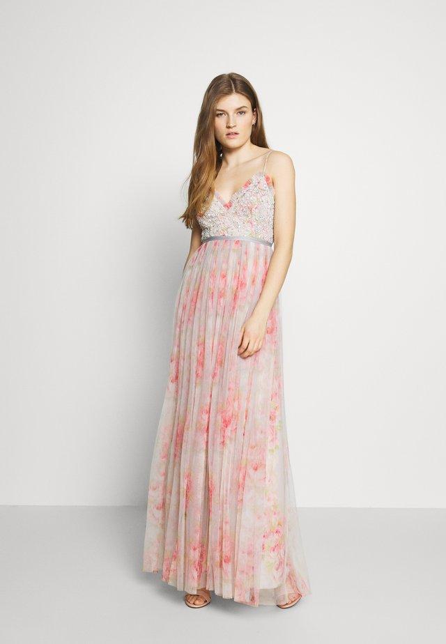 ANDROMEDA RUBY BLOOM CAMI GOWN - Společenské šaty - pink