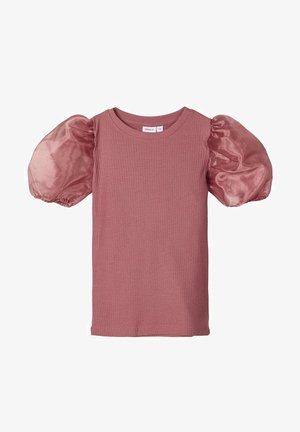 SLIM FIT PUFFÄRMEL - Blouse - withered rose