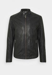 Selected Homme - SLHICONIC RACER - Leather jacket - black - 7
