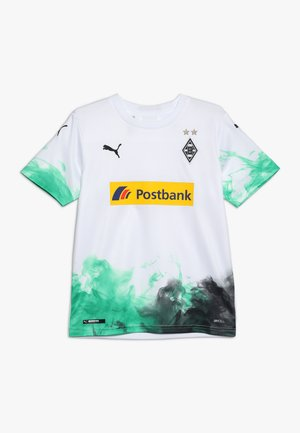 BORUSSIA MÖNCHENGLADBACH HOME REPLICA WITH SPONSOR - Club wear - puma white/bright green