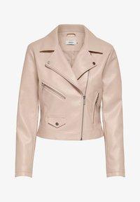 Faux leather jacket - rose smoke