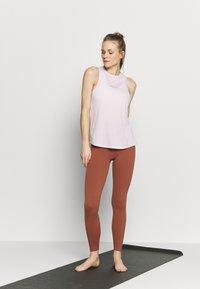 Nike Performance - DRY TANK YOGA - Sportshirt - barely rose/summit white - 1