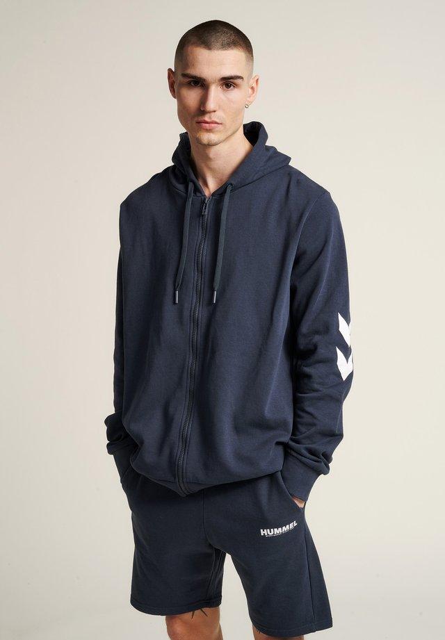 HMLLEGACY ZIP HOODIE - Zip-up hoodie - blue nights