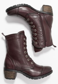 Be Natural - Lace-up ankle boots - bordeaux - 3