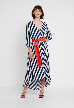 VAIA DRESS - Maxi šaty - white/dark blue