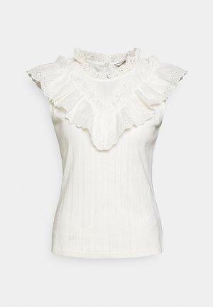 OANDREA - Camiseta estampada - ecru
