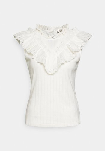 OANDREA - Print T-shirt - ecru