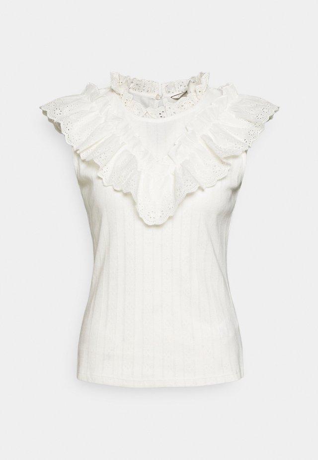 OANDREA - T-shirts med print - ecru