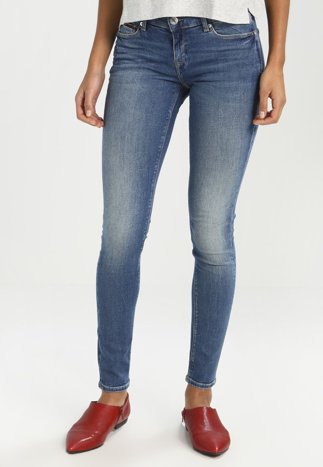 MID RISE SKINNY NORA - Jeans Skinny Fit - royal blue stretch