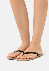 Tamaris - T-bar sandals - black glam - 0