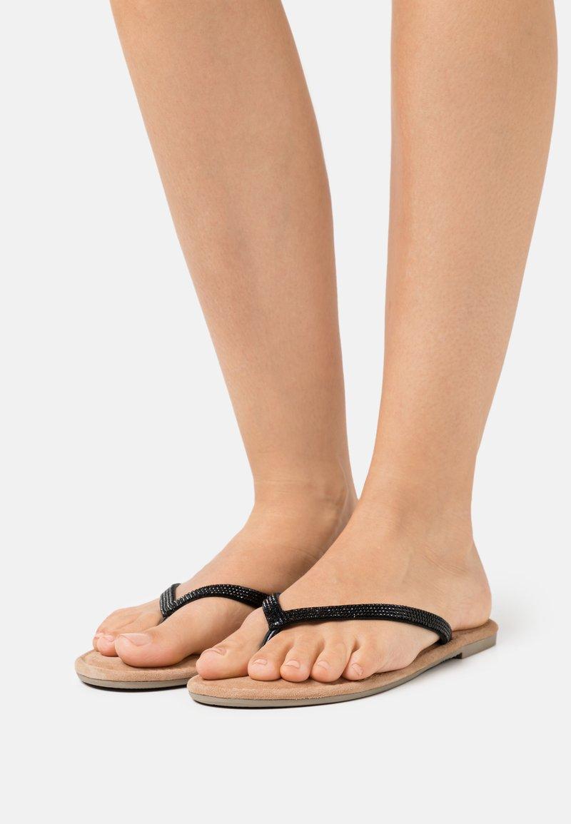 Tamaris - T-bar sandals - black glam