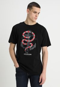 Cayler & Sons - ANCHORED TEE - Print T-shirt - black - 0