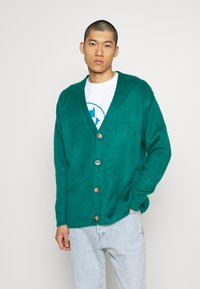 Mennace - FLUFFY CARDIGAN - Cardigan - teal - 0
