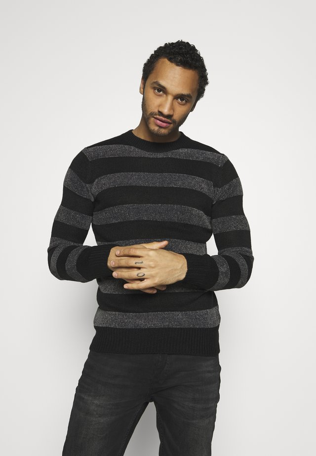 Jumper - jet black/grey marl
