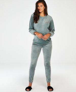 VELOURS LUREX - Pyjama bottoms - green