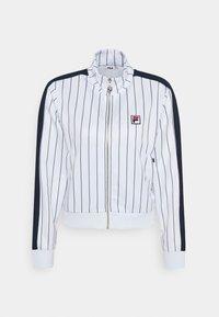 Fila - HALA TRACK JACKET - Summer jacket - blanc de blanc/black iris - 5