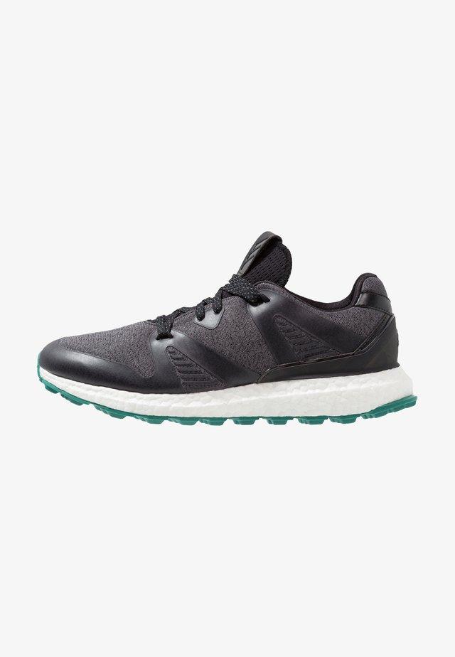 CROSSKNIT 3.0 - Golf shoes - core black/grey six/active green