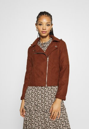 Faux leather jacket - cherry mahogany