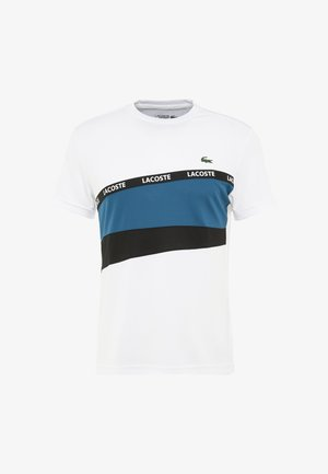 TENNIS - Print T-shirt - white/illumination black
